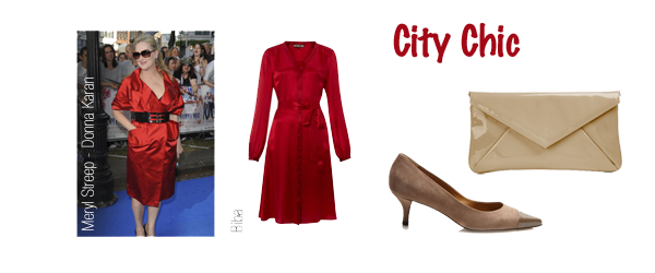 city-chic style personality red dress