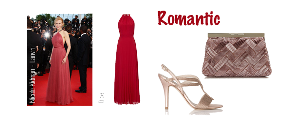 romantic style personality red dress