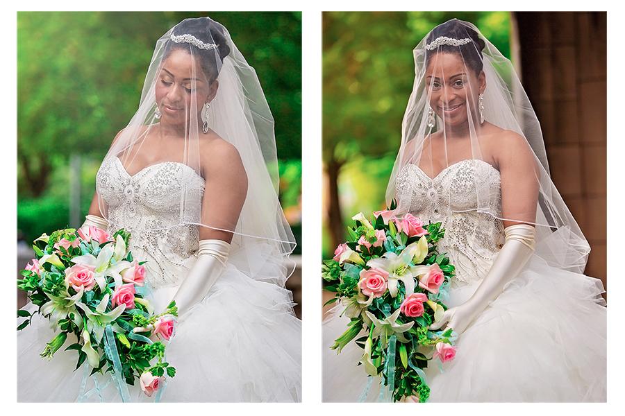 Beautiful Nashville bride with bouquet