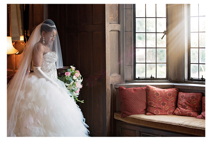 I love this portrait of the bride before the wedding!