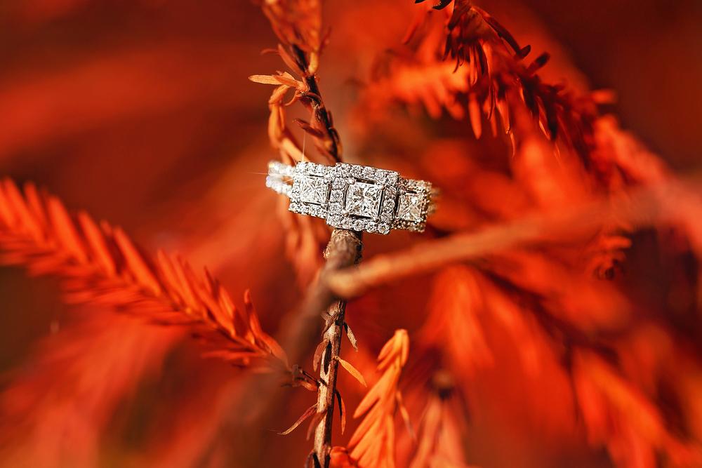 So elegant! Amber's princess-cut square diamond engagement ring!