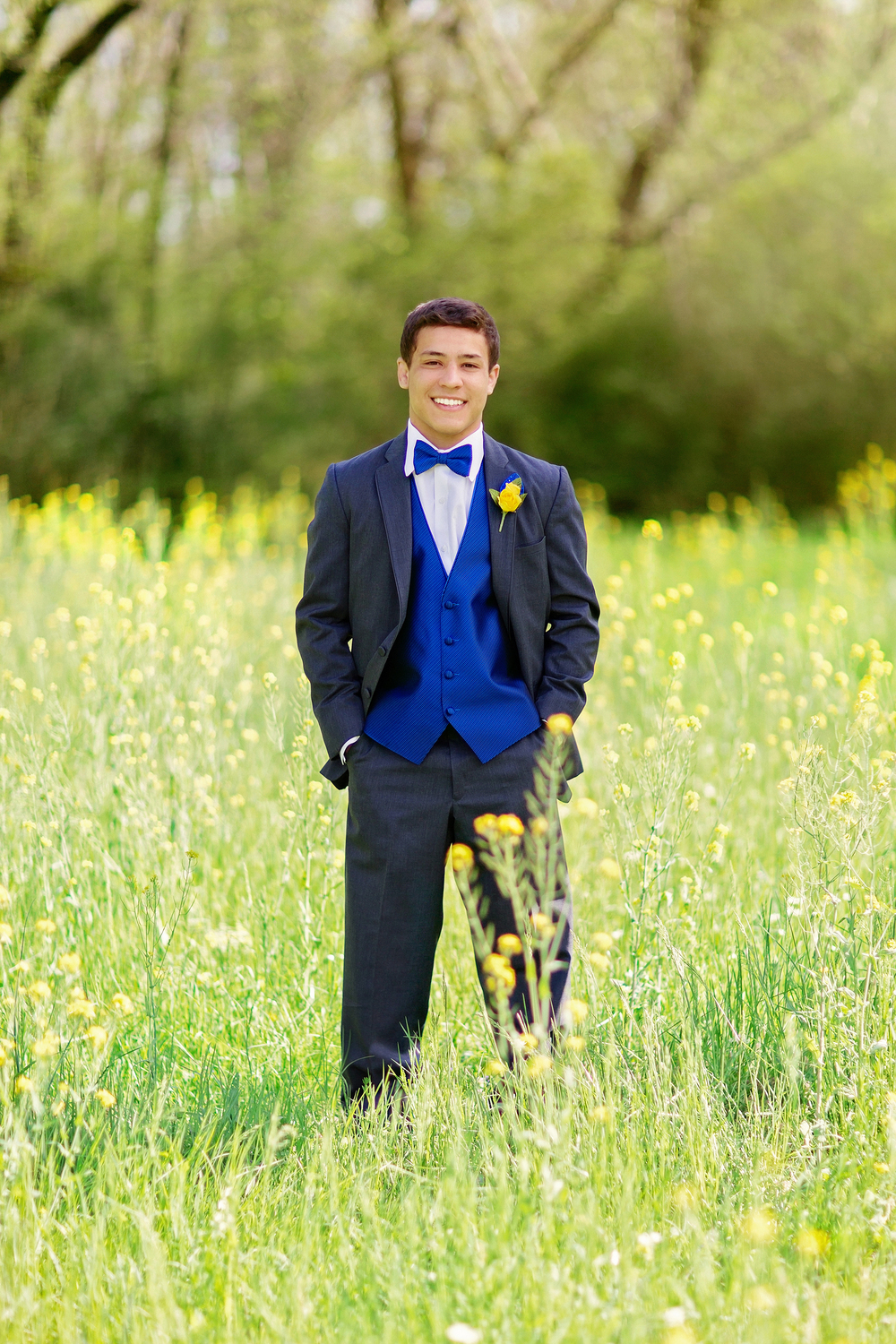 Handsome young prom man.