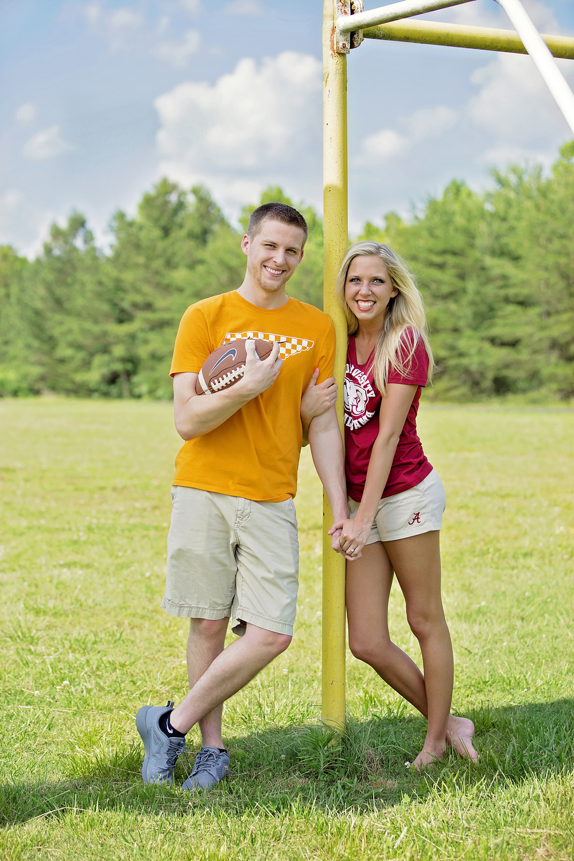 Love on the football field.