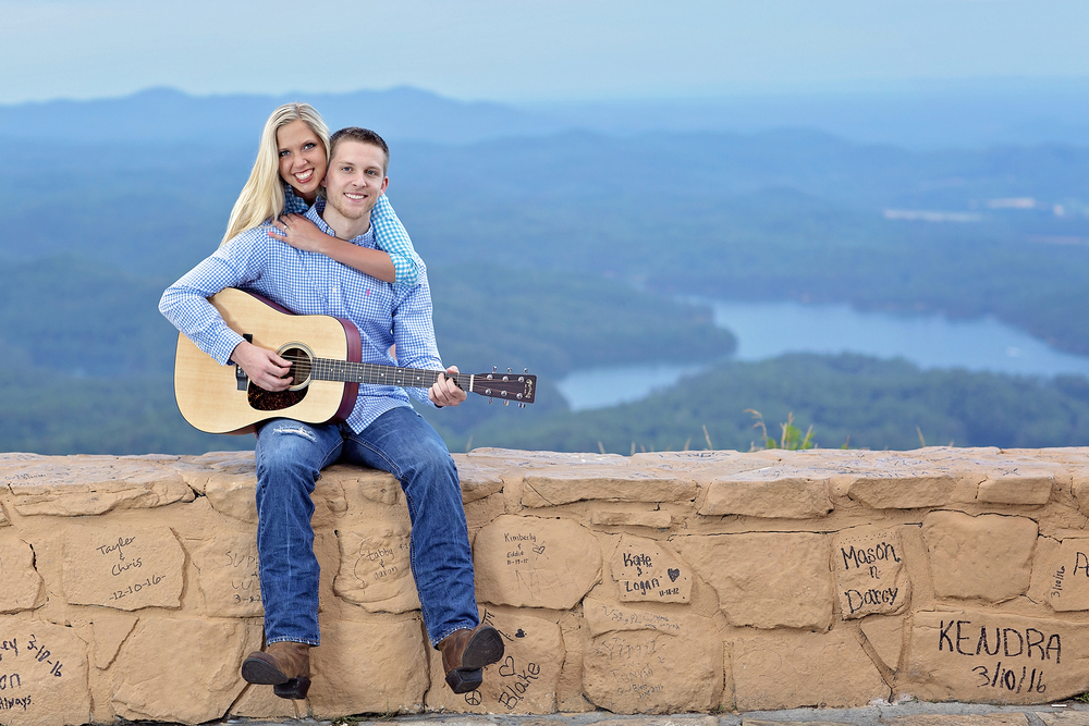 Playing guitar at Chilhowee TN
