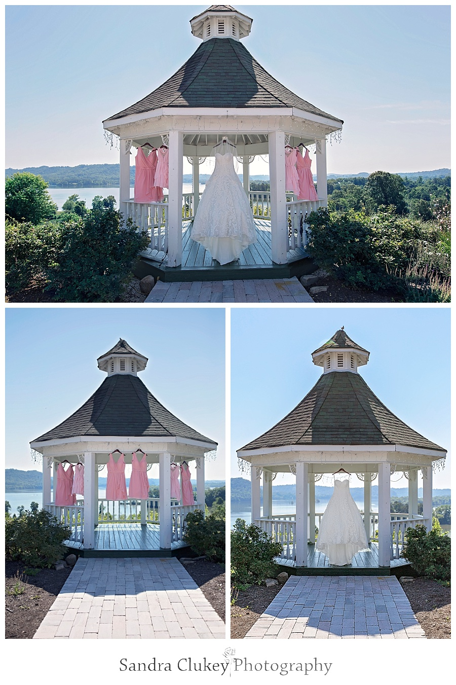 Wedding and Bridesmaid Gowns in Whitestone Gazebo