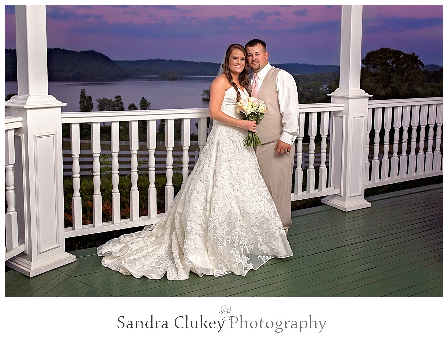 Stunning Bride and Groom on Porch