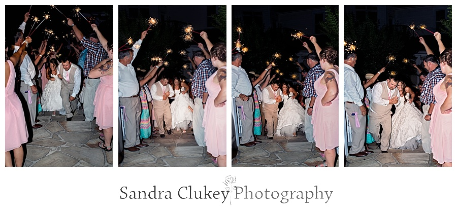 Sparkler Exit at Whitestone Inn Wedding