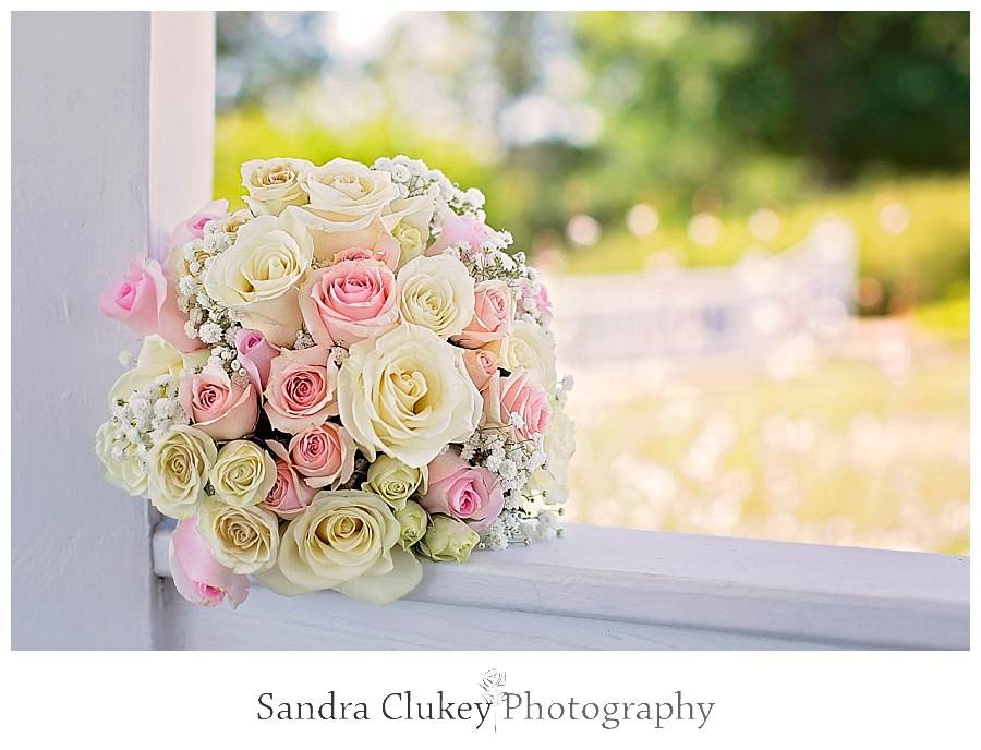 Brides Pink and Cream Rose Bouquet