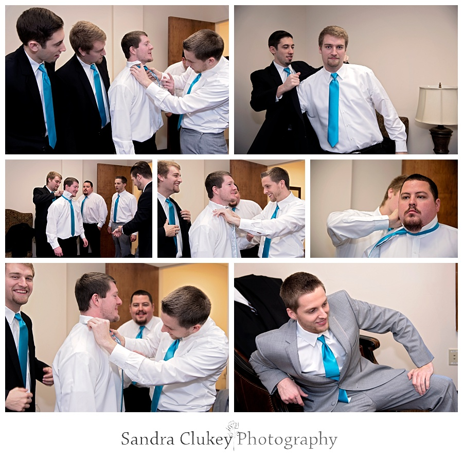 Photos of groom with men getting ready