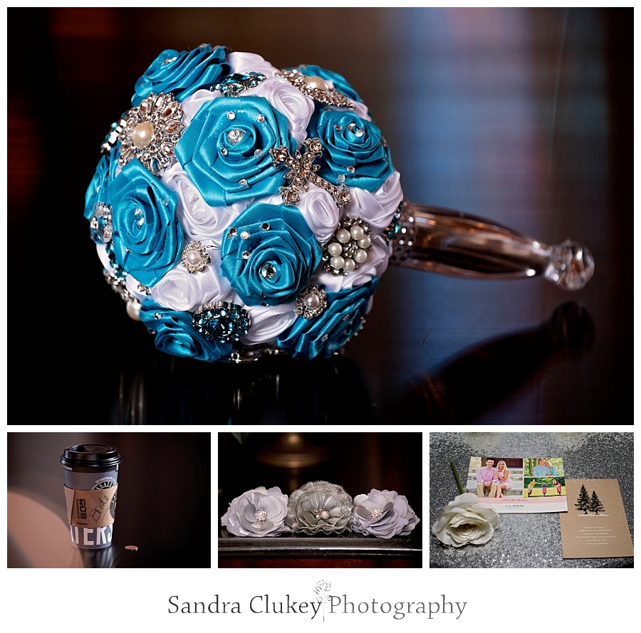 Blue ice jewelry bouquet