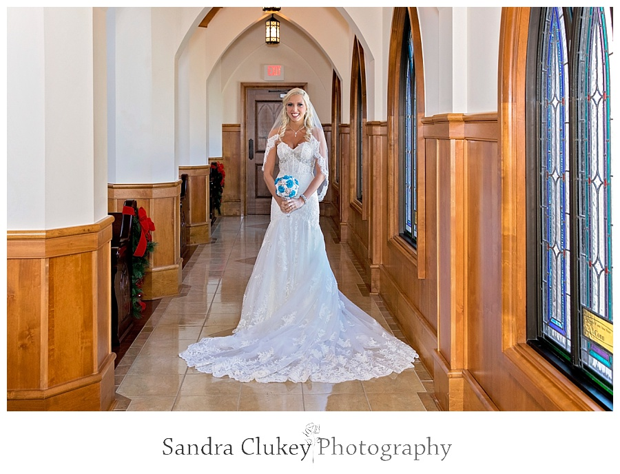 Bride in chapel's isle