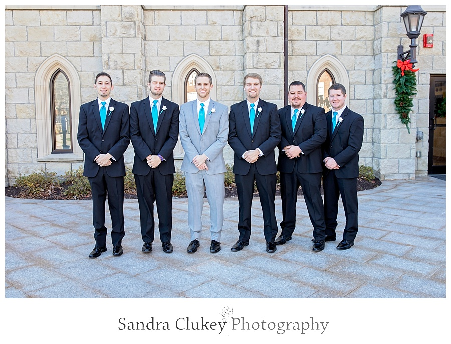 Groom with all his men