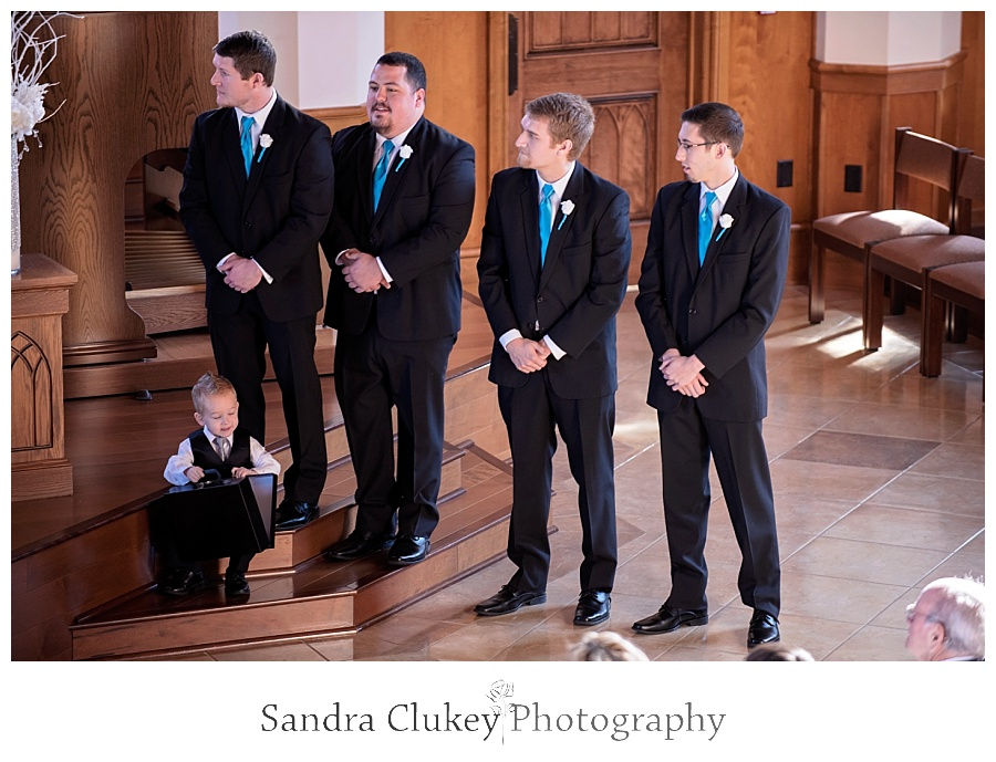 Groomsmen at Lee University Chapel