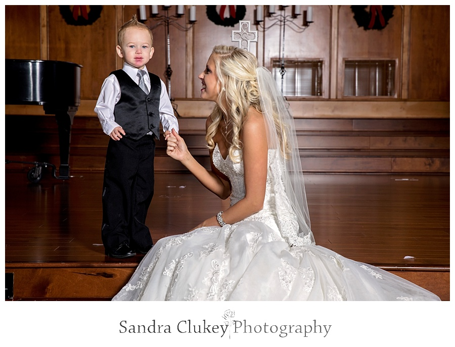 Bride with nephew