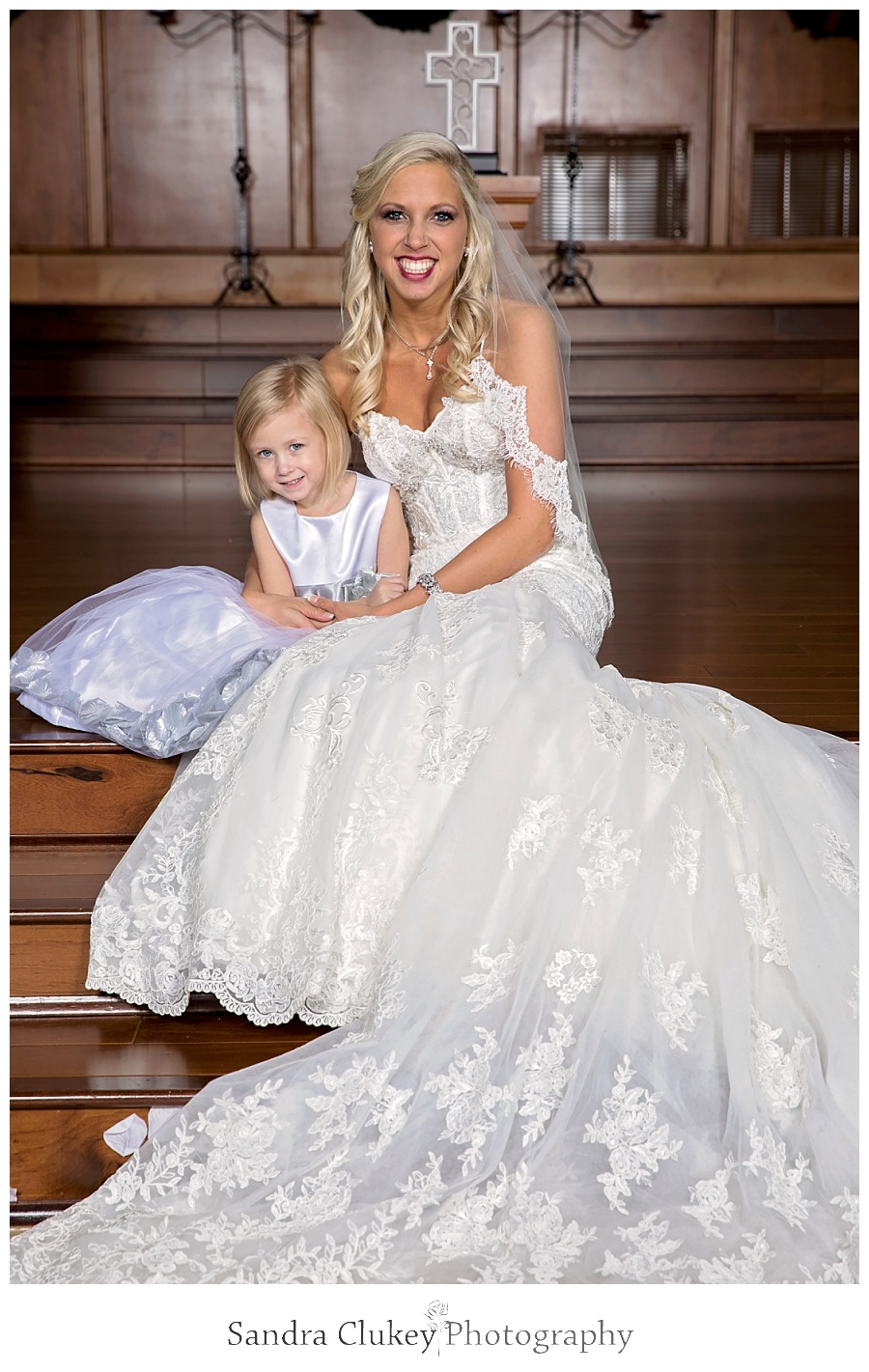 Bride with niece
