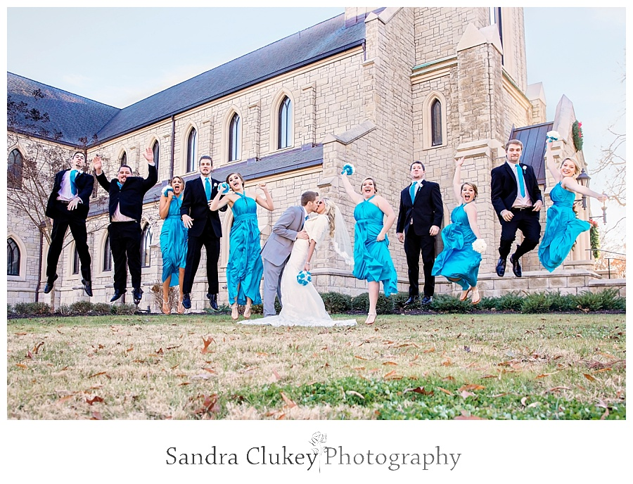 Lee University wedding jump