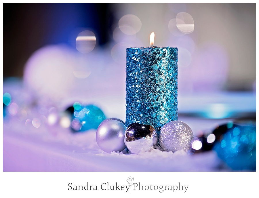 Reception blue candle