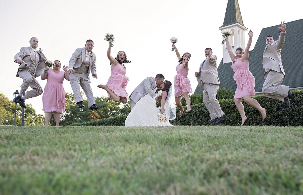 Bridal Party Jump. Whitestone Country Inn, Kingston TN