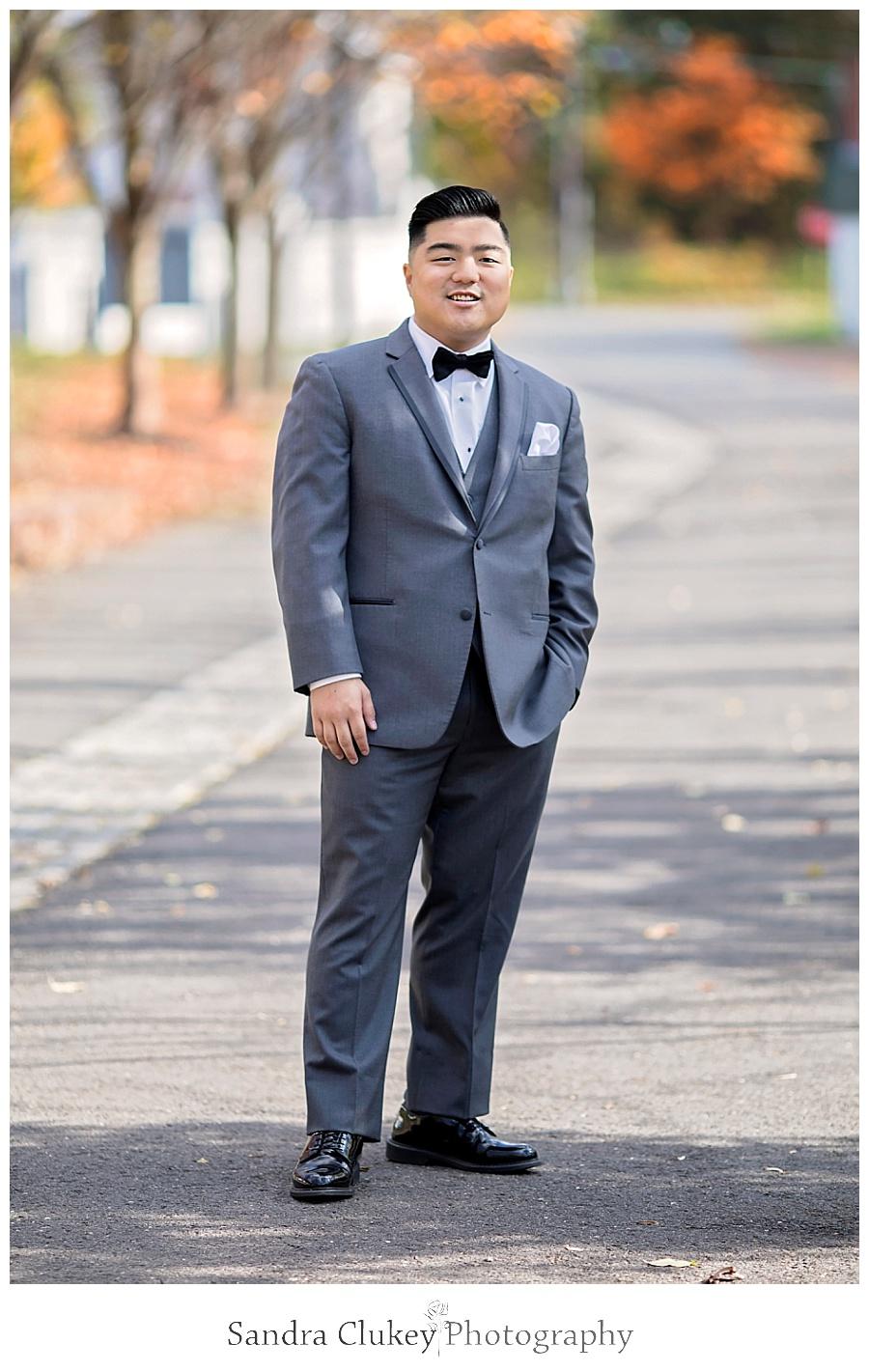 Joyful groom