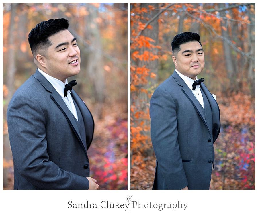 Whimsical groom
