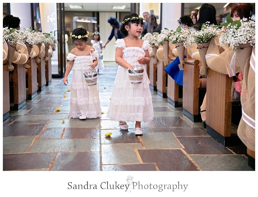Gentle flower girls spread joy