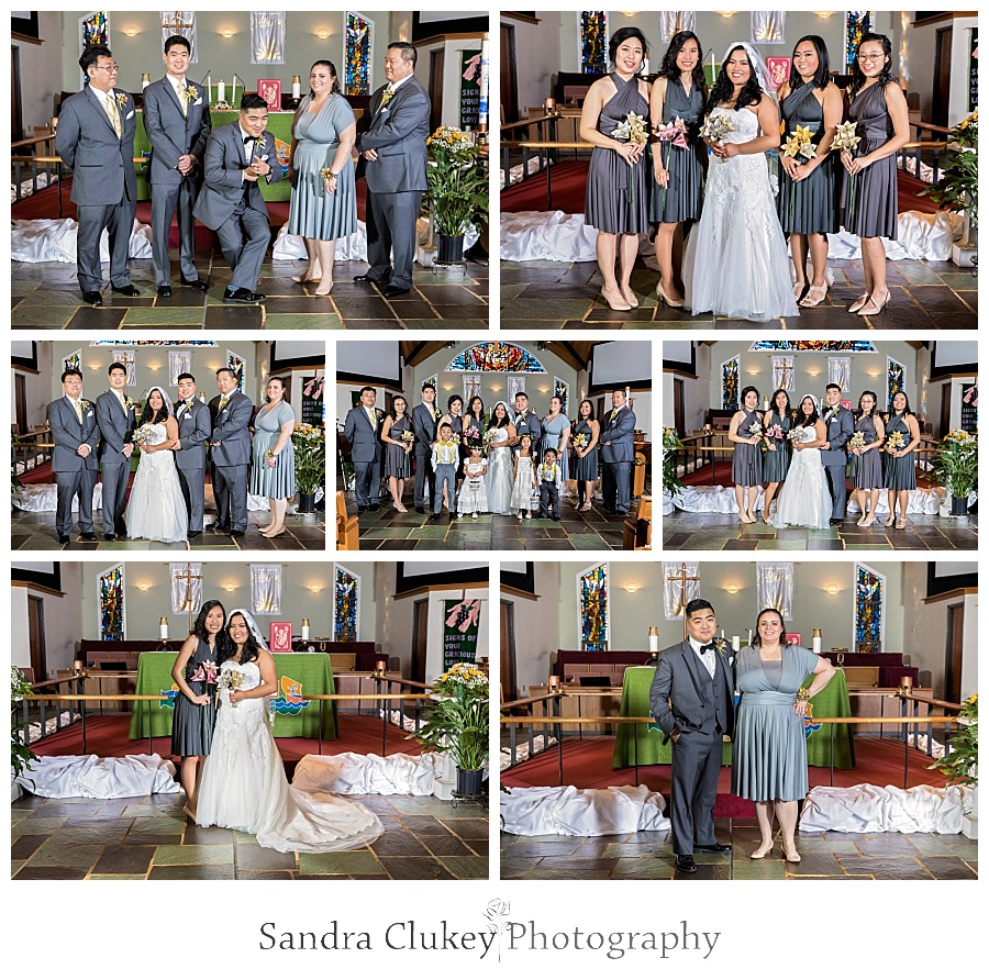 Gleeful wedding party portraits