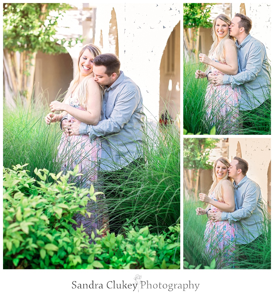 Affectionate moment for couple