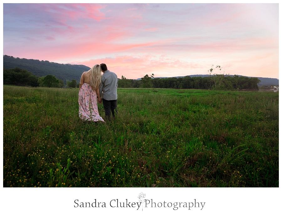 Stunning sunset engagement photo