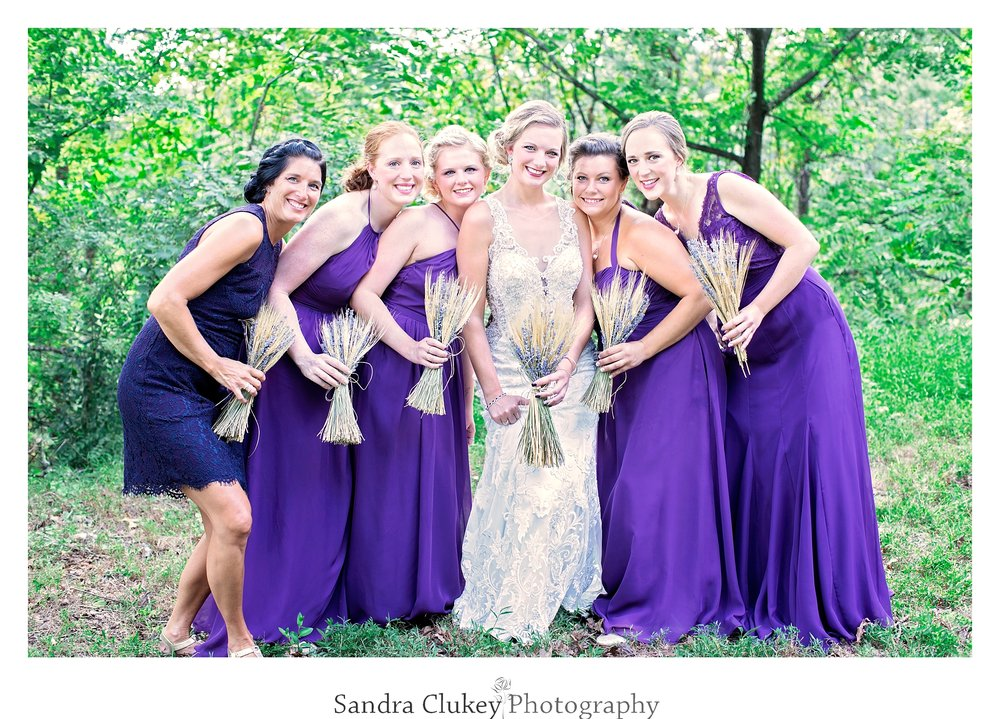 Loving photo of bride and her ladies