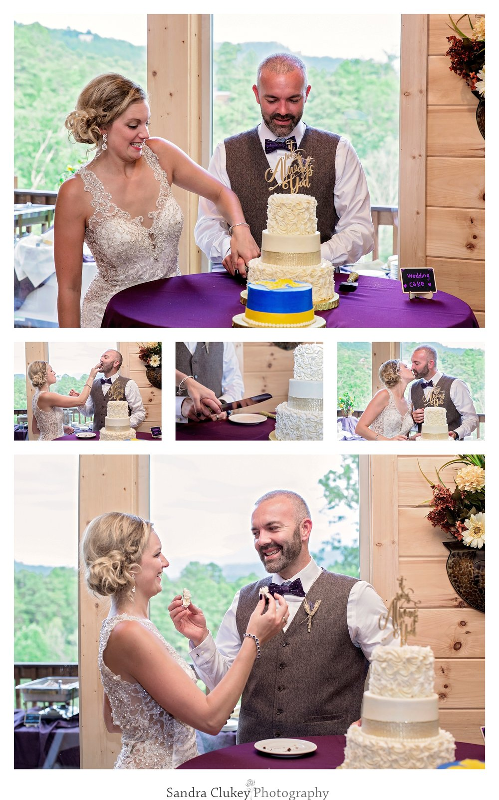 Ceremonial cutting of the cake