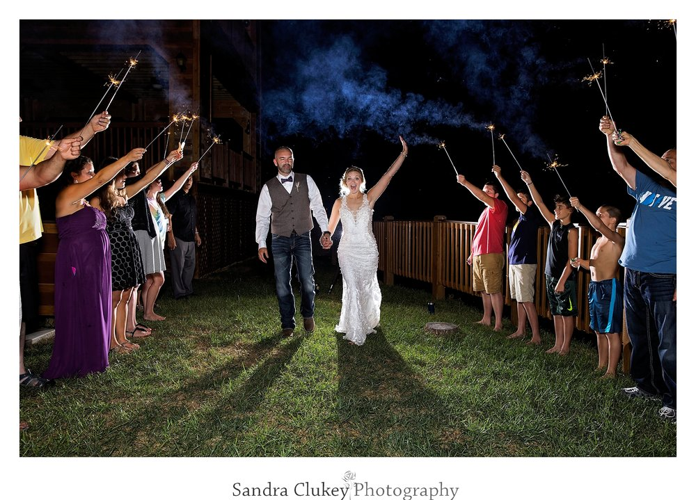 Sparkler send off