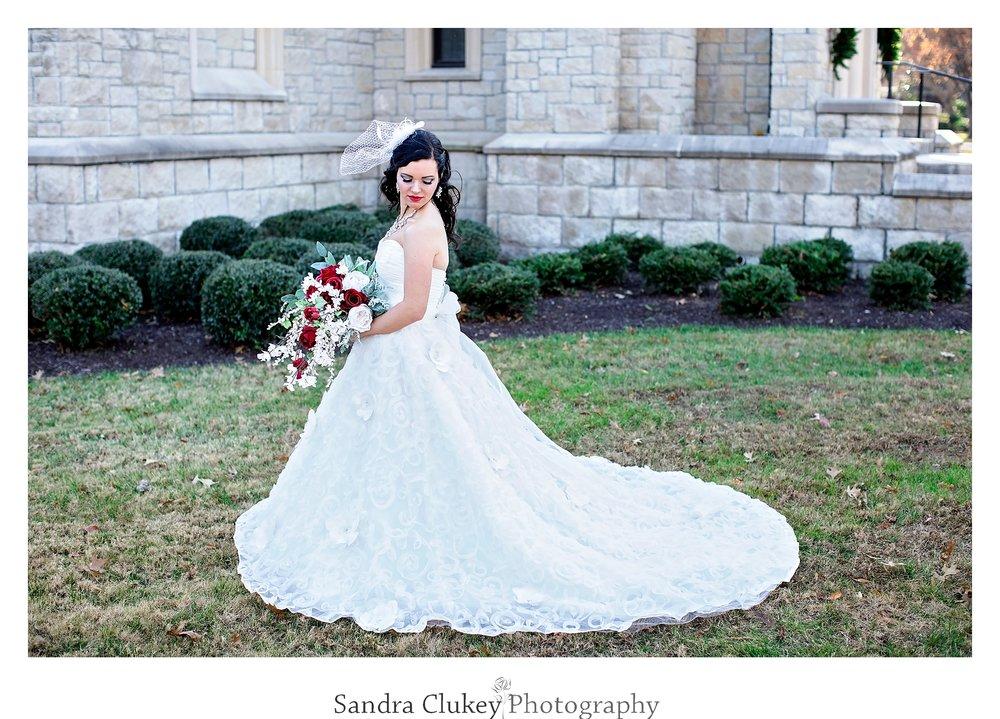 Classic portrait of bride at Lee University Chapel, Cleveland TN