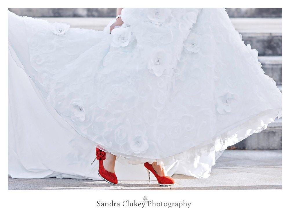 Bridal shoes. Lee University Chapel, Cleveland TN