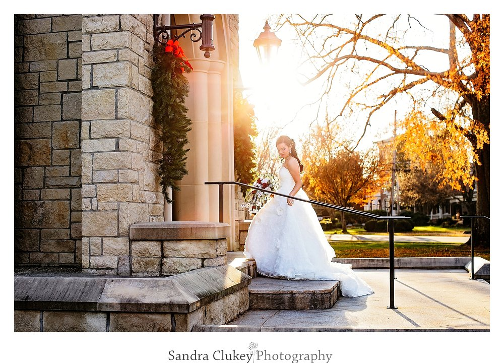 The Bride enters Lee University Wedding Chapel in Cleveland TN