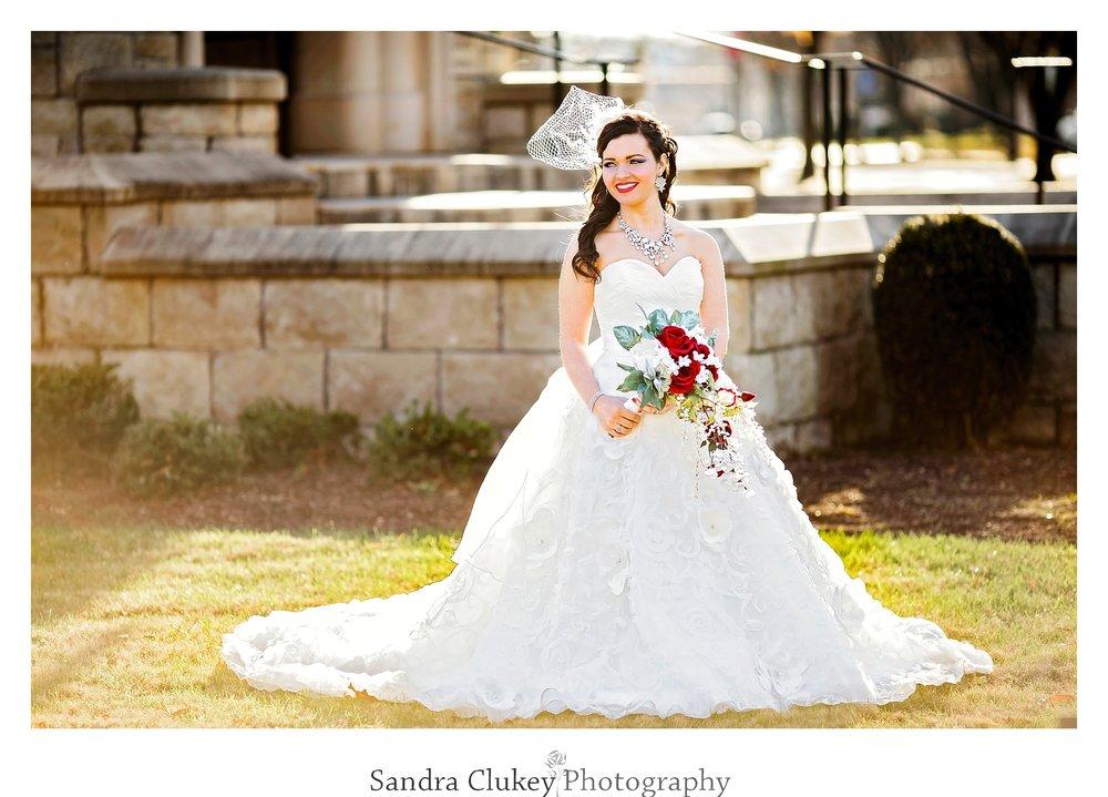 Lovely Bridal portrait at Lee University Chapel, Cleveland TN