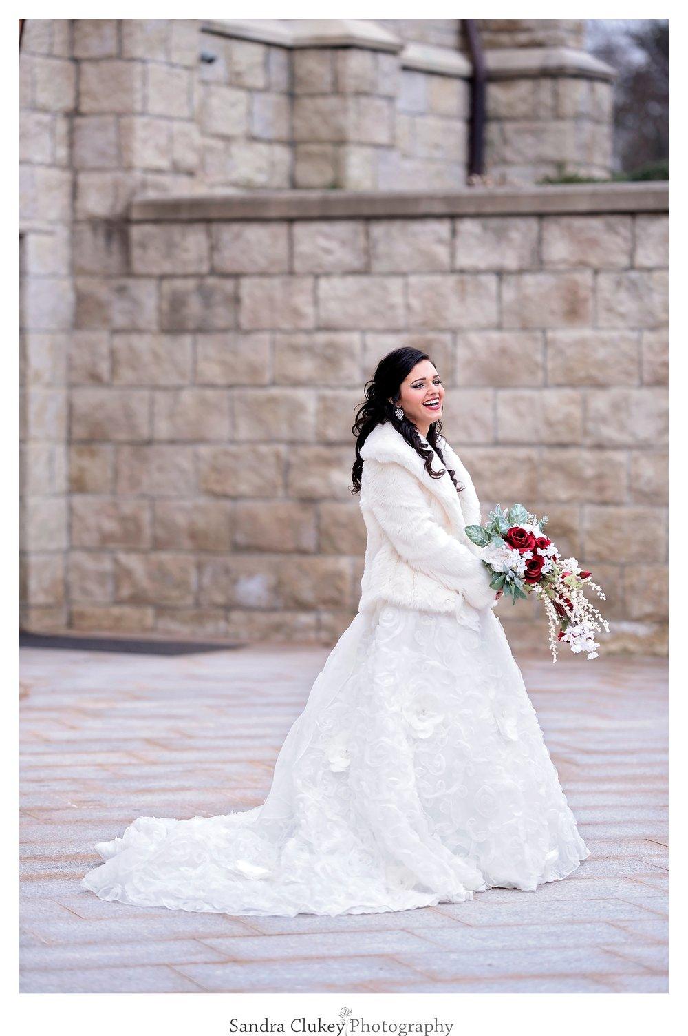 Lee University Chapel, Cleveland TN. Striking Bridal Image
