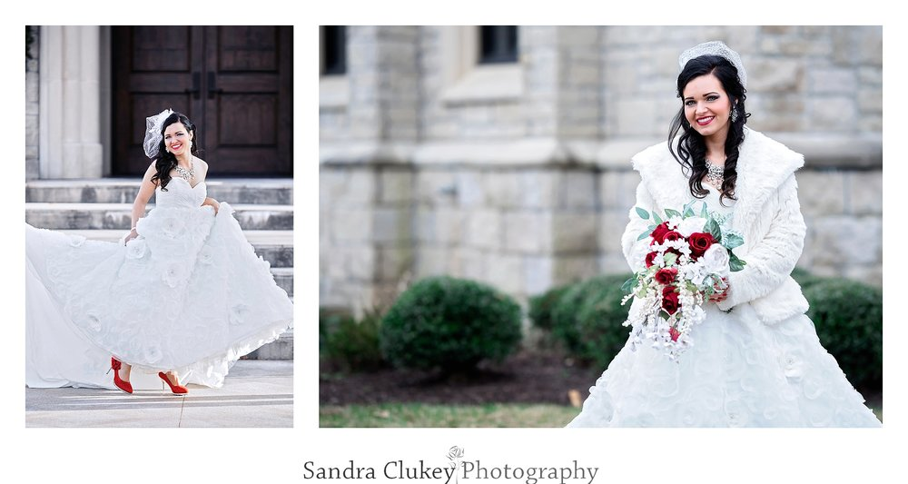 Bride at Lee University Chapel, Cleveland TN