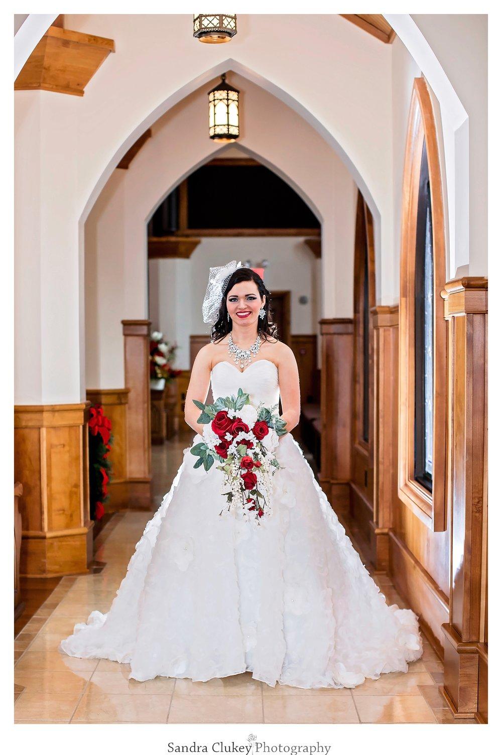 Graceful Bride in Chapel
