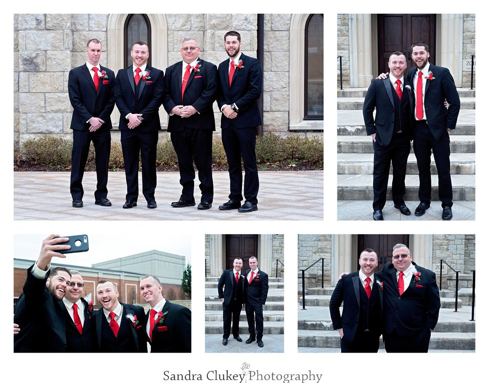 Groom with Groomsmen at Lee University Chapel, Cleveland TN