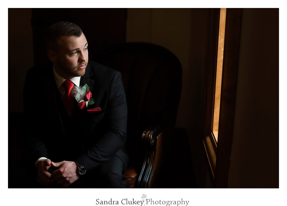 Soulful wedding groom moment at Lee University Chapel, Cleveland TN