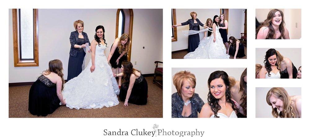 Joyful bridal preparation