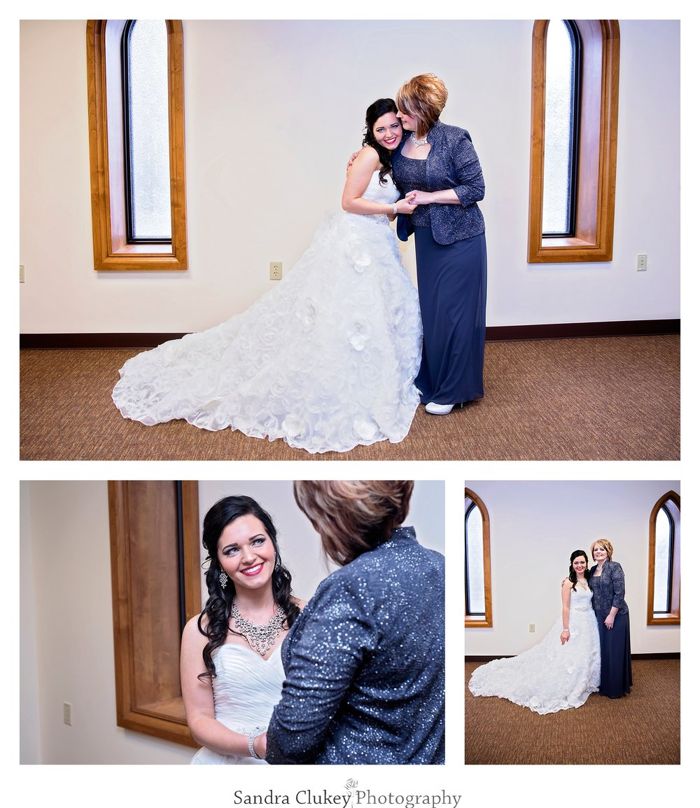 Loving embrace with bride