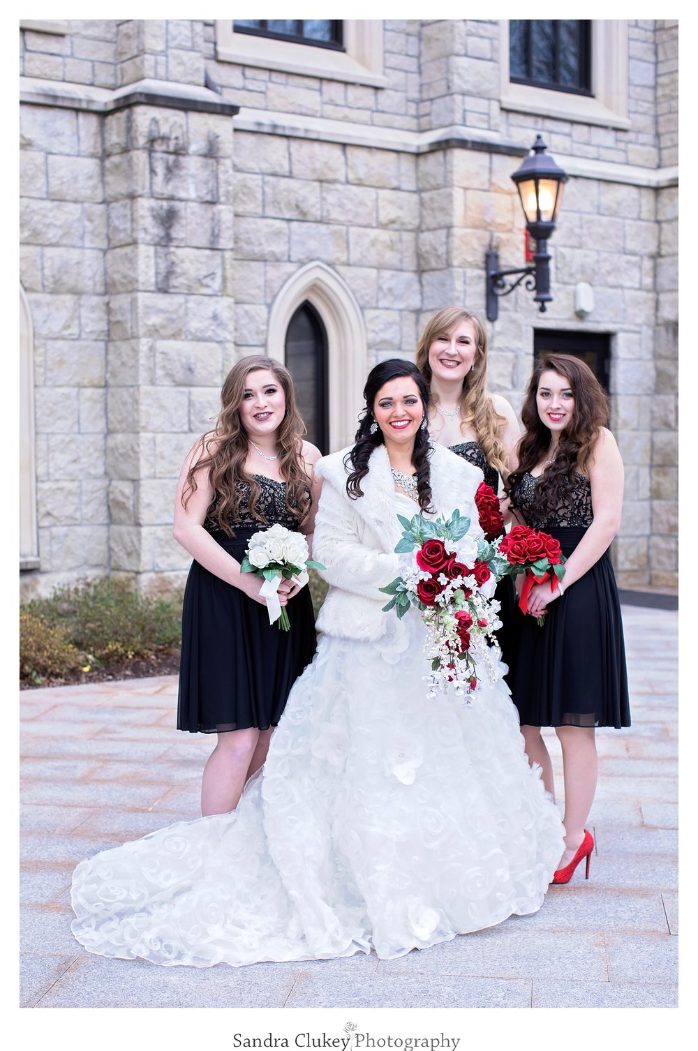 Delightful image of bride with her girls