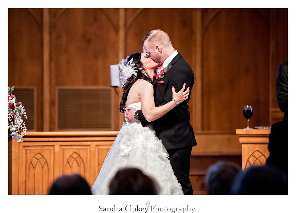 You may now kiss your bride! Lee University Chapel, Cleveland TN
