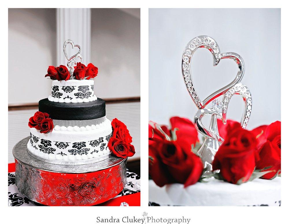 Luscious wedding cake at  Lee University chapel, Cleveland TN.