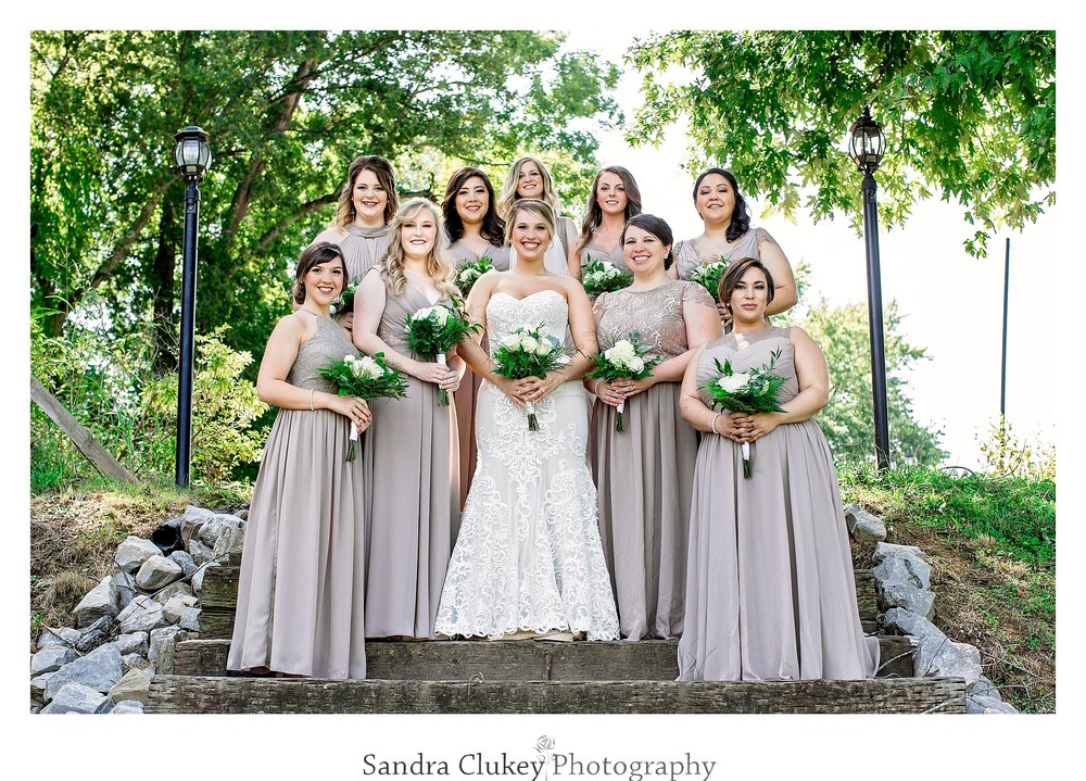 Stunning bride and bridesmaids. Tennessee RiverPlace, Chattanooga TN