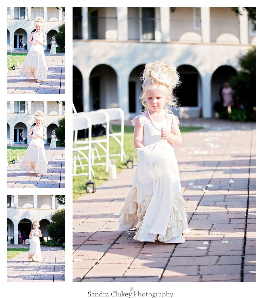 Precious flower girl at Tennessee RiverPlace, Chattanooga TN