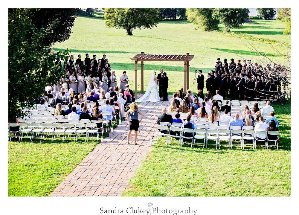 Tennessee RiverPlace wedding ceremony aerial view