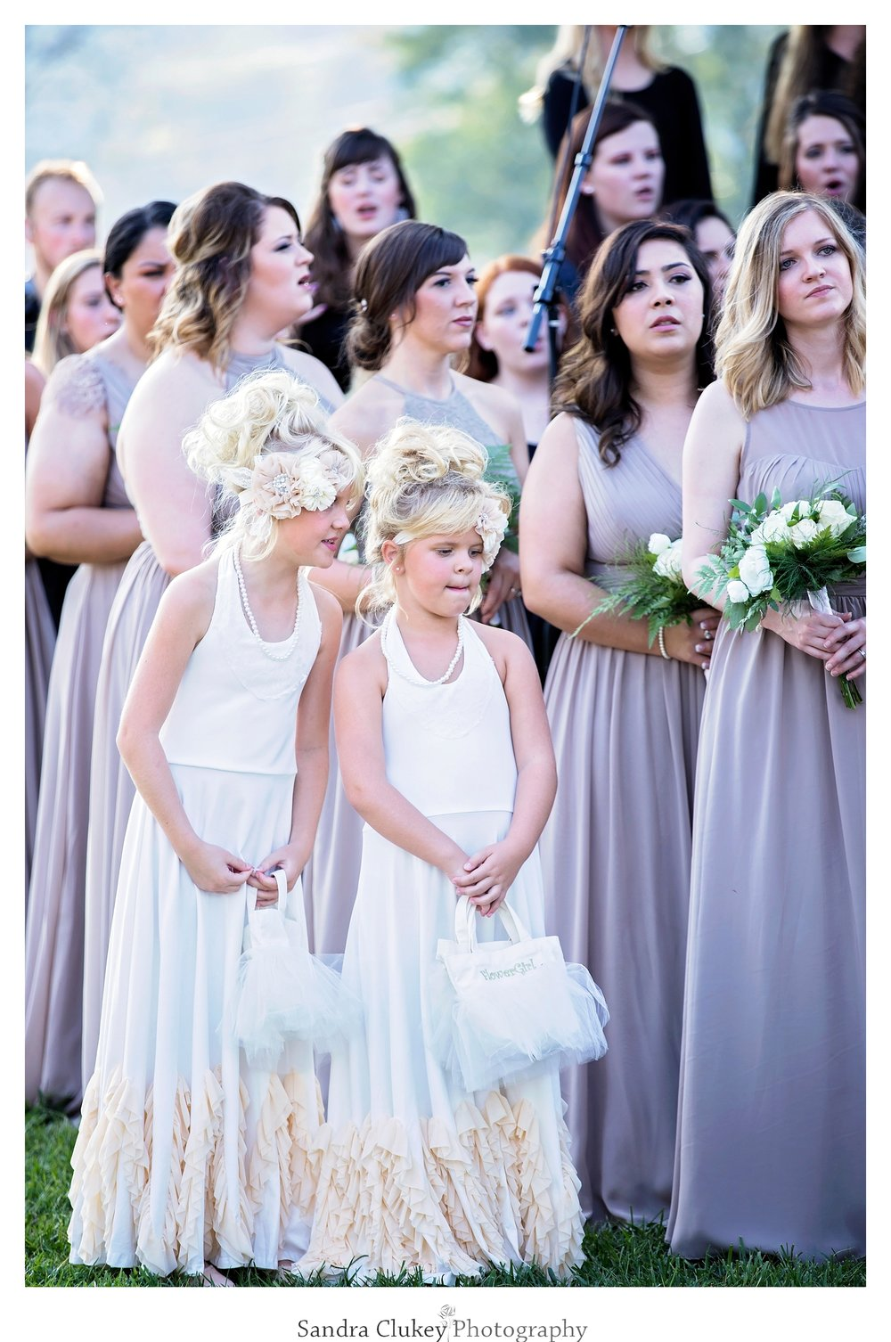 Flower girls stand out. Tennessee RiverPlace, Chattanooga TN