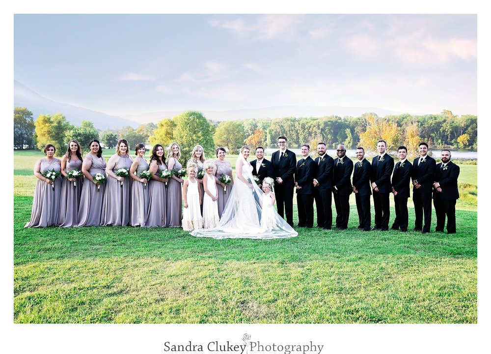 Large Wedding Party at Tennessee RiverPlace, Chattanooga TN